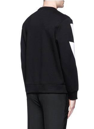 背面 - 点击放大 - NEIL BARRETT - 拼色闪电图案卫衣