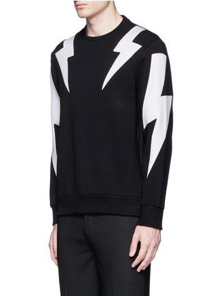 正面 -点击放大 - NEIL BARRETT - 拼色闪电图案卫衣