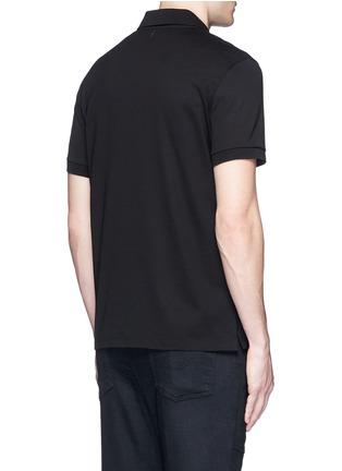 背面 - 点击放大 - NEIL BARRETT - 闪电印花纯棉POLO衫