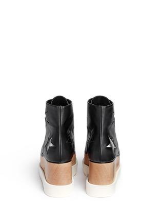 背面 - 点击放大 - STELLA MCCARTNEY - ELYSE星星装饰坡跟系带鞋