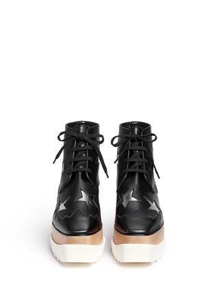 正面 -点击放大 - STELLA MCCARTNEY - ELYSE星星装饰坡跟系带鞋