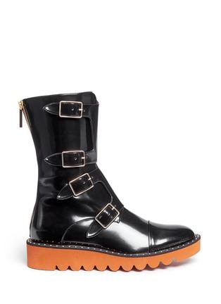 首图 - 点击放大 - STELLA MCCARTNEY - ODETTE铆钉装饰搭带中筒靴