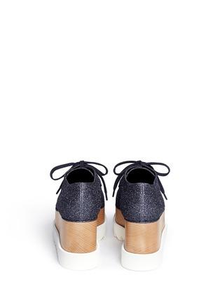 背面 - 点击放大 - STELLA MCCARTNEY - ELYSE闪粉鞋面坡跟系带鞋