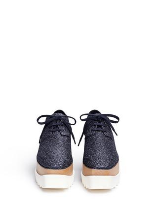 正面 - 点击放大 - STELLA MCCARTNEY - ELYSE闪粉鞋面坡跟系带鞋