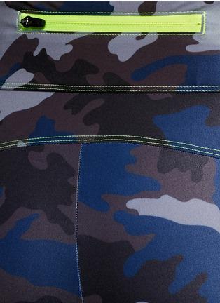 细节 - 点击放大 - LAAIN - 迷彩印花八分长紧身裤