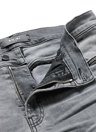 - Amiri - 磨破补丁修身牛仔裤