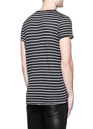 背面 - 点击放大 - AMIRI - 条纹卷边棉混羊绒T恤