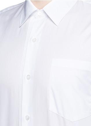 细节 - 点击放大 - DRIES VAN NOTEN - 罗缎条纹拼贴纯棉衬衫