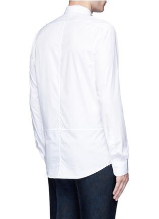 背面 - 点击放大 - DRIES VAN NOTEN - 罗缎条纹拼贴纯棉衬衫