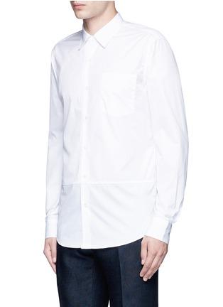 正面 -点击放大 - DRIES VAN NOTEN - 罗缎条纹拼贴纯棉衬衫