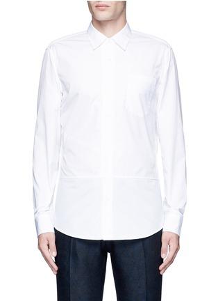 首图 - 点击放大 - DRIES VAN NOTEN - 罗缎条纹拼贴纯棉衬衫