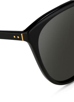 细节 - 点击放大 - LINDA FARROW - 圆边Wayfarer太阳眼镜