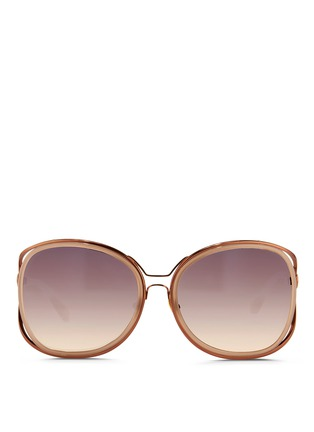 首图 - 点击放大 - LINDA FARROW - 双框椭圆形太阳眼镜
