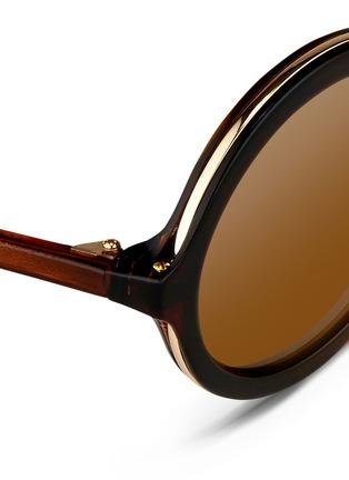 细节 - 点击放大 - 3.1 PHILLIP LIM - 板材拼接金属圆框太阳眼镜