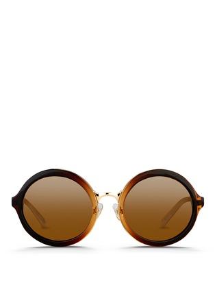首图 - 点击放大 - 3.1 PHILLIP LIM - 板材拼接金属圆框太阳眼镜