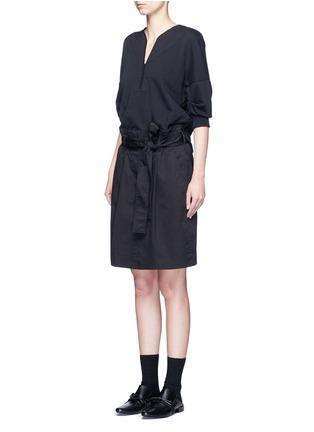 正面 - 点击放大 - 3.1 PHILLIP LIM - 拼接束腰连衣裙
