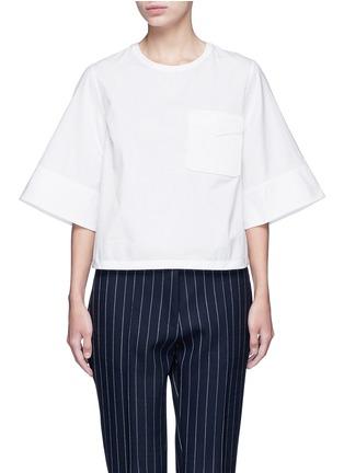 首图 - 点击放大 - 3.1 PHILLIP LIM - 编织装饰口袋纯棉上衣