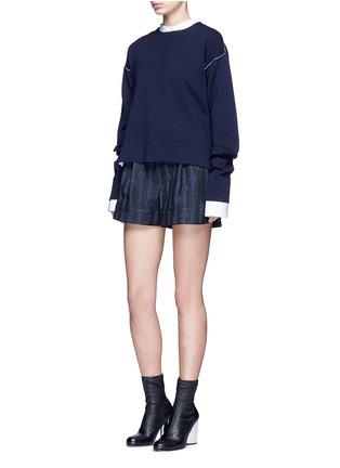 模特示范图 - 点击放大 - 3.1 PHILLIP LIM - 麻花装饰短裤