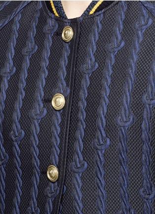 细节 - 点击放大 - 3.1 PHILLIP LIM - 绳结花纹棒球外套