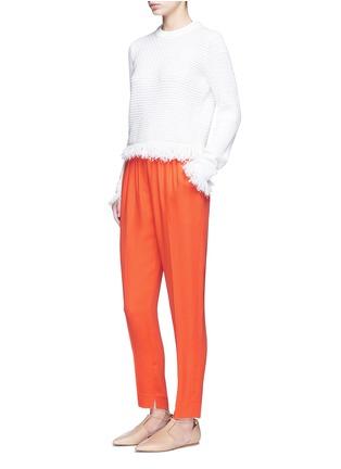 模特示范图 - 点击放大 - 3.1 PHILLIP LIM - 单色绉绸长裤