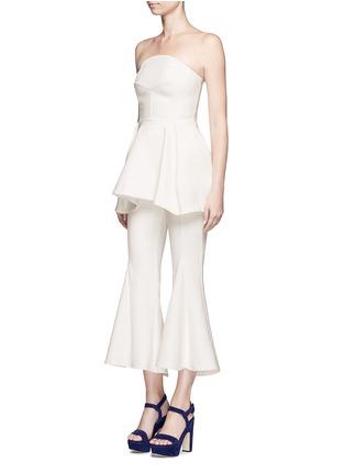 模特儿示范图 - 点击放大 - NICHOLAS - 单色绉绸抹胸上衣