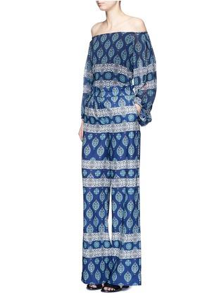 模特示范图 - 点击放大 - NICHOLAS - 异域风格印花阔腿裤