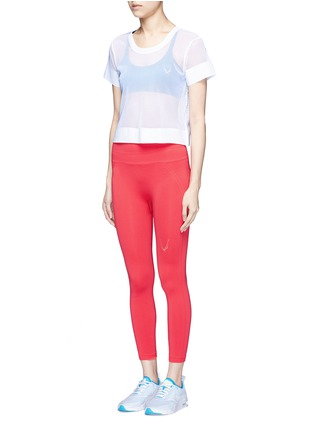 模特儿示范图 - 点击放大 - LUCAS HUGH - 网眼短款T恤