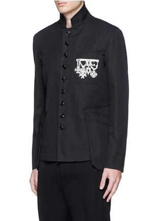 正面 -点击放大 - Alexander McQueen - 纹身图案刺绣纯棉外套
