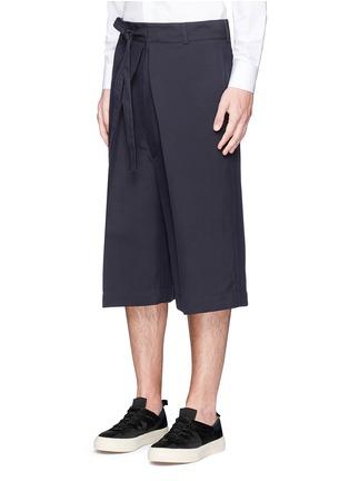 正面 - 点击放大 - Alexander McQueen - 褶裥束腰阔腿短裤