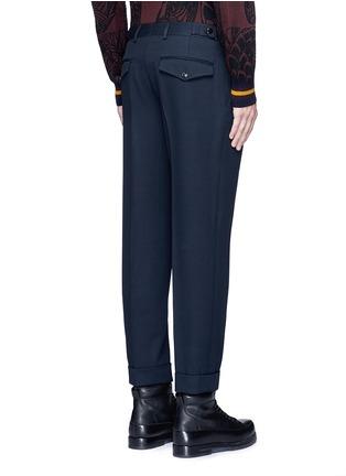背面 - 点击放大 - DRIES VAN NOTEN - 卷边裤腿口羊毛及踝裤
