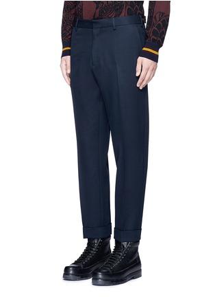 正面 -点击放大 - DRIES VAN NOTEN - 卷边裤腿口羊毛及踝裤