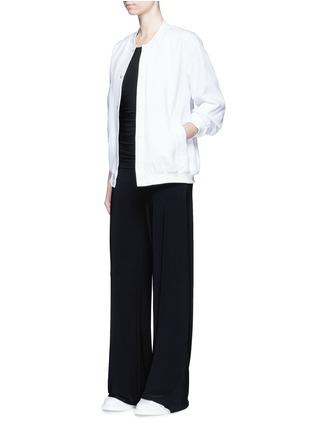 模特儿示范图 - 点击放大 - NORMA KAMALI - 垂坠装饰弹力阔腿连体裤