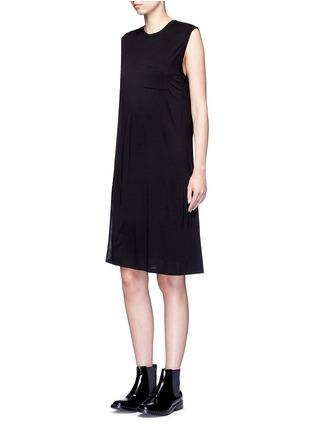 模特儿示范图 - 点击放大 - T BY ALEXANDER WANG - CLASSIC叠搭无袖连衣裙