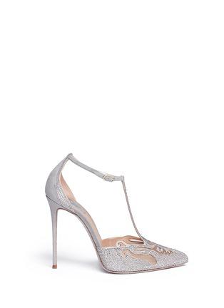 首图 - 点击放大 - RENÉ CAOVILLA - T形搭带仿水晶装饰细跟鞋