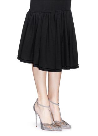 模特示范图 - 点击放大 - RENÉ CAOVILLA - T形搭带仿水晶装饰细跟鞋