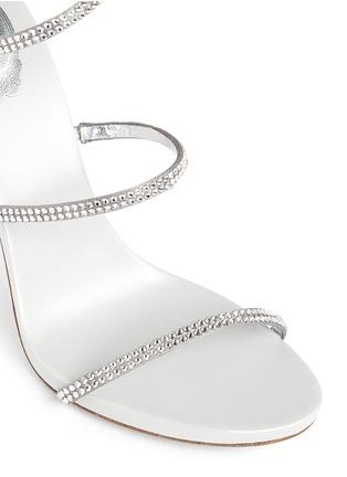 细节 - 点击放大 - RENÉ CAOVILLA - SNAKE仿水晶缠绕搭带高跟凉鞋