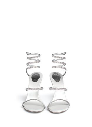 正面 - 点击放大 - RENÉ CAOVILLA - SNAKE仿水晶缠绕搭带高跟凉鞋