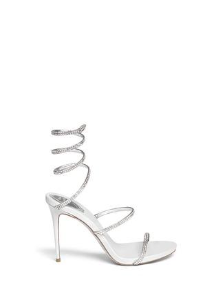 首图 - 点击放大 - RENÉ CAOVILLA - SNAKE仿水晶缠绕搭带高跟凉鞋