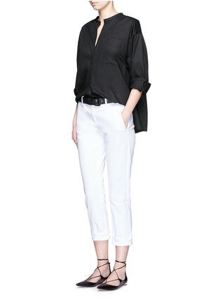 模特示范图 - 点击放大 - ISABEL MARANT  - 褶裥纯棉府绸上衣