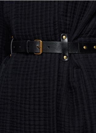 细节 - 点击放大 - ISABEL MARANT - GLASCO牛皮搭带竖纹绗缝夹克