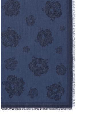 细节 - 点击放大 - KENZO - Tiger head jacquard modal-silk scarf