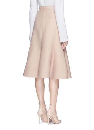 背面 - 点击放大 - VALENTINO - 单色羊毛混丝绉绸半身裙