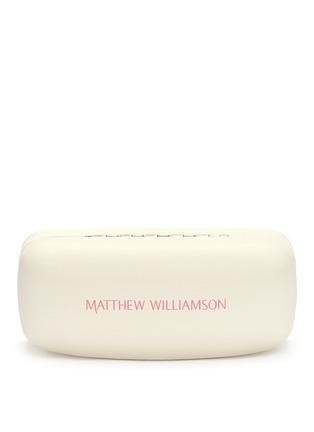 细节 - 点击放大 - MATTHEW WILLIAMSON - 琥珀纹大圆框太阳眼镜