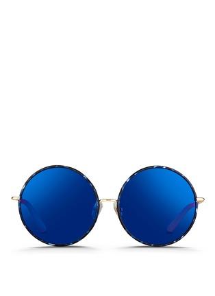 首图 - 点击放大 - MATTHEW WILLIAMSON - 琥珀纹大圆框太阳眼镜