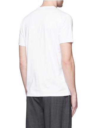 背面 - 点击放大 - MONCLER - 像素效果图案纯棉T恤