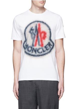 首图 - 点击放大 - MONCLER - 像素效果图案纯棉T恤
