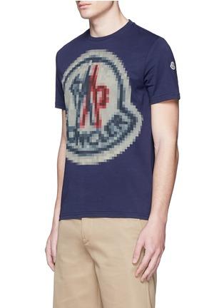 正面 -点击放大 - MONCLER - 像素效果图案纯棉T恤