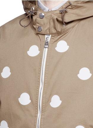 细节 - 点击放大 - MONCLER - 徽章拼贴装饰棉质夹克