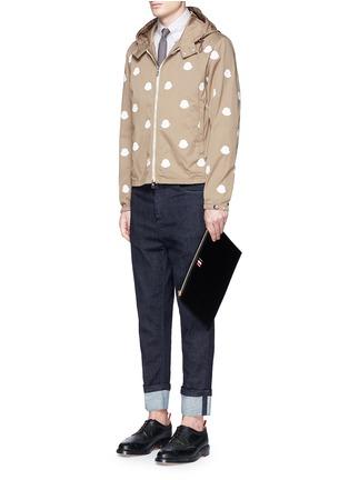 模特儿示范图 - 点击放大 - MONCLER - 徽章拼贴装饰棉质夹克