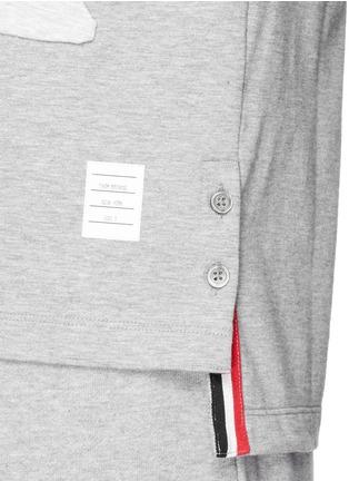 细节 - 点击放大 - THOM BROWNE - 拼贴锦鲤纯棉T恤
